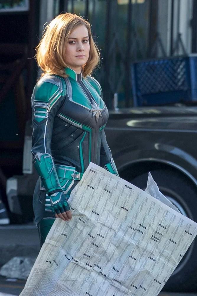 Capitã Marvel | Vazam fotos de Brie Larson com o uniforme da heroína
