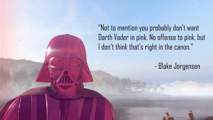 Star Wars: Battlefront 2   Game ganha mod cor-de-rosa de Darth Vader em protesto a EA