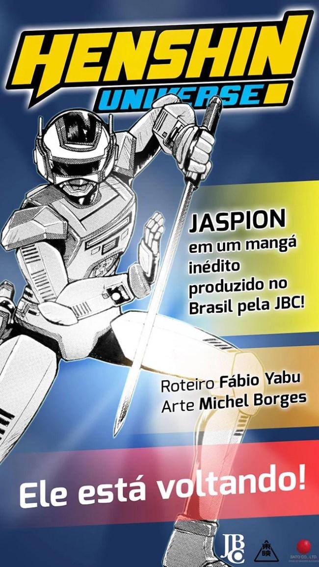 O Fantástico Jaspion ganhará versão em mangá pela Editora JBC