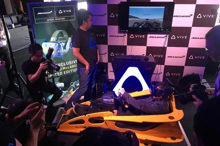 eSports   McLaren e HTC lançam headset VR para corridas virtuais