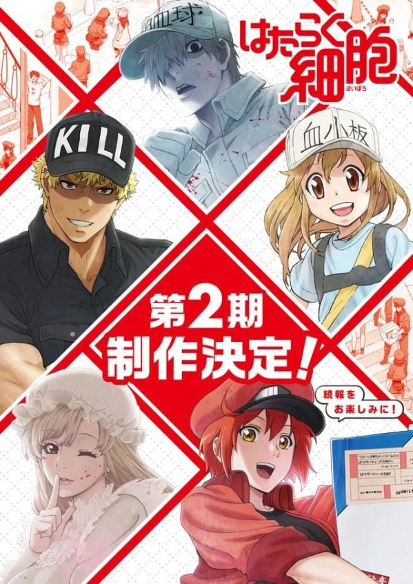 Cells at Work!   2ª temporada do anime é anunciada. Confira o trailer