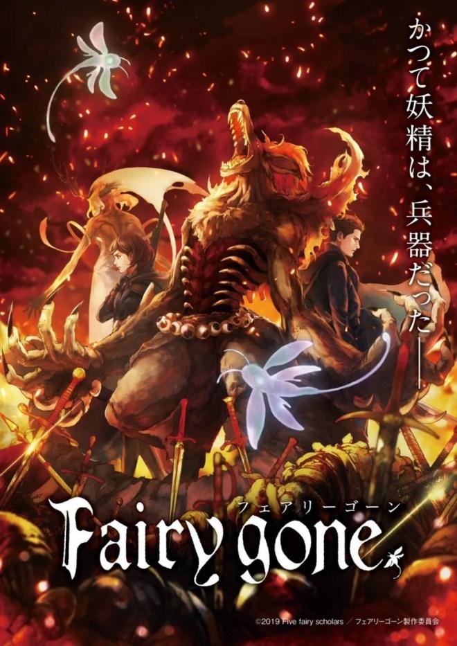 Fairy Gone   Anime original ganha trailer e data de estreia