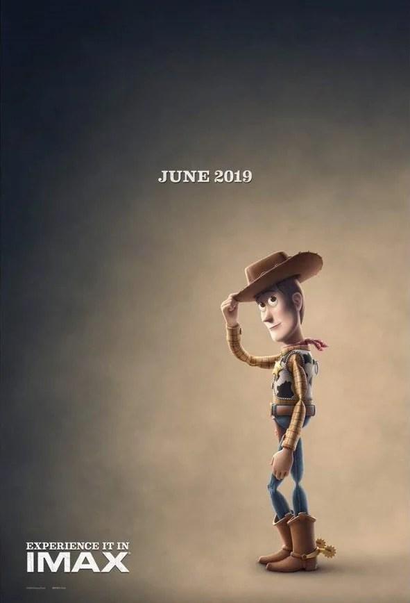 Poster de Toy Story 4 com Woody