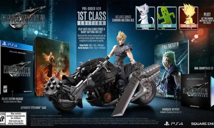 edição 1st class de Final Fantasy VII Remake
