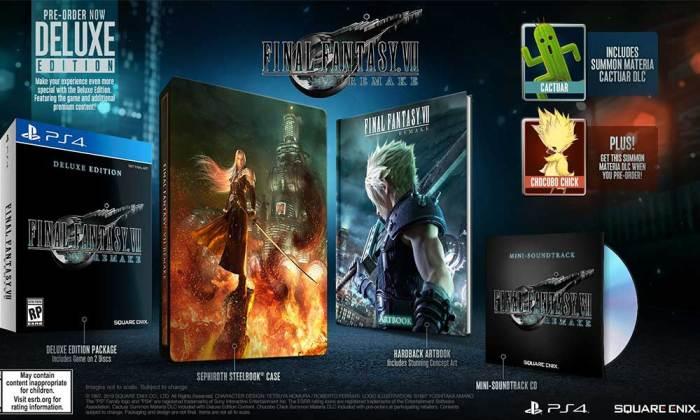 Edição Deluxe de Final Fantasy VII Remake