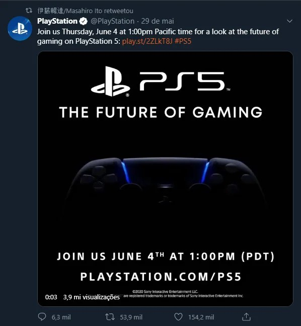 PlayStation 5   Evento no dia 4 de junho revelará design, games e possível preço