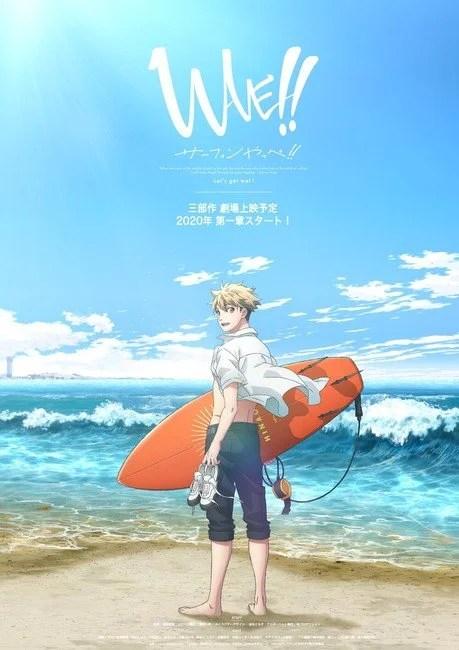 WAVE!! Surfing Yappe!! | Trilogia de filmes anime revela estreia para outubro