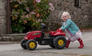 Mini farmer with tractor