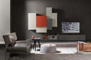 Custom and Modern Italian Design wall unit by Sangiacomo