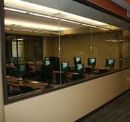 A view of the computer lab from the northwest corner of 4th floor.