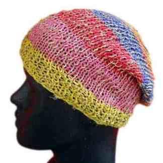 248436cf99b Hemp Beanie Cap multi-colored – Fair Trade Nepal