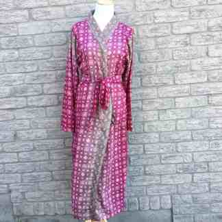 Fair Trade Sari Silk Robe