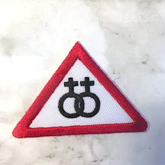 Embroidered Iron On Patch - Female/Female Triangle