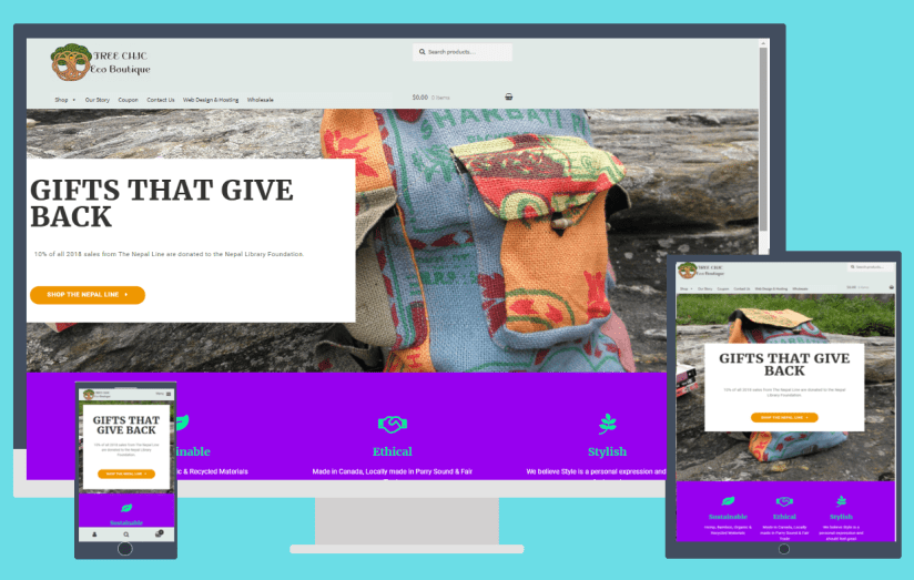 Tree Chic eCommerce Site 2018