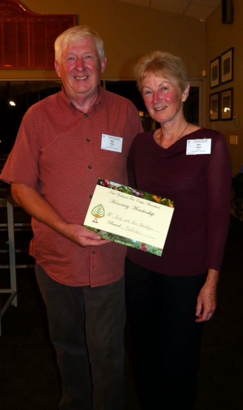 Lifetime Membership recipients Bob and Ann Phillips