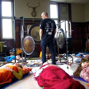 Gong Bath session in Todmorden, Manchester