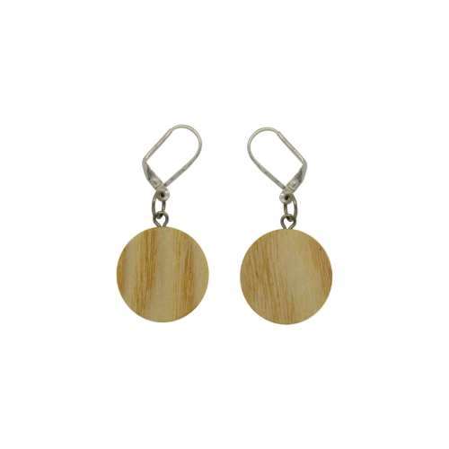 "Wooden earrings ""Silver"" - ash"