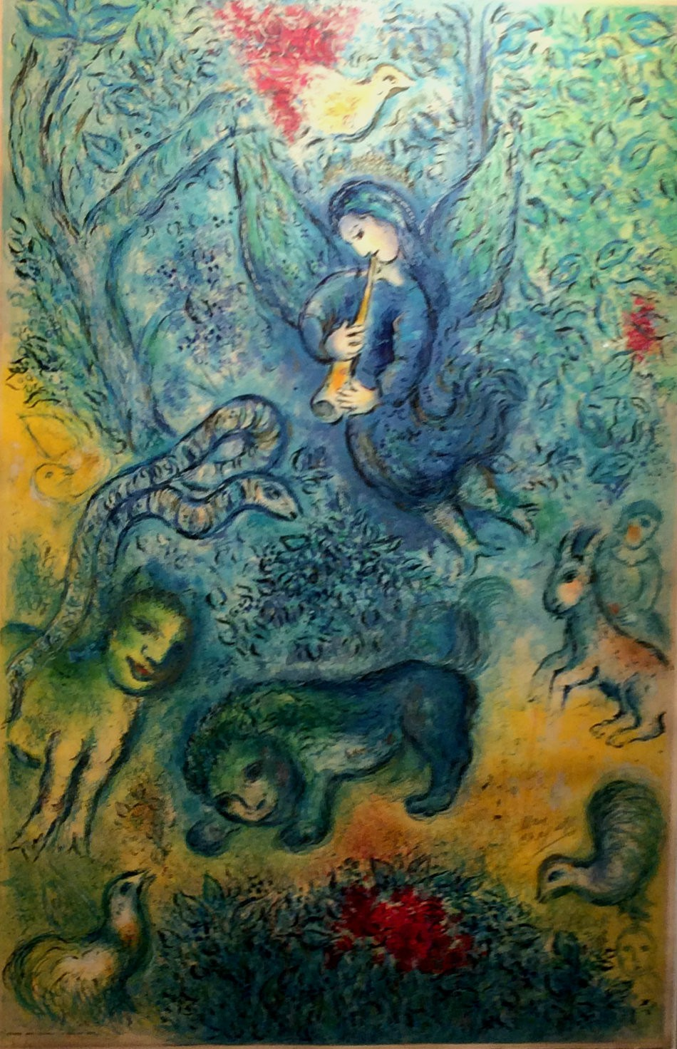 The Magic Flute by Marc Chagall (Russia-France, 1887-1985)