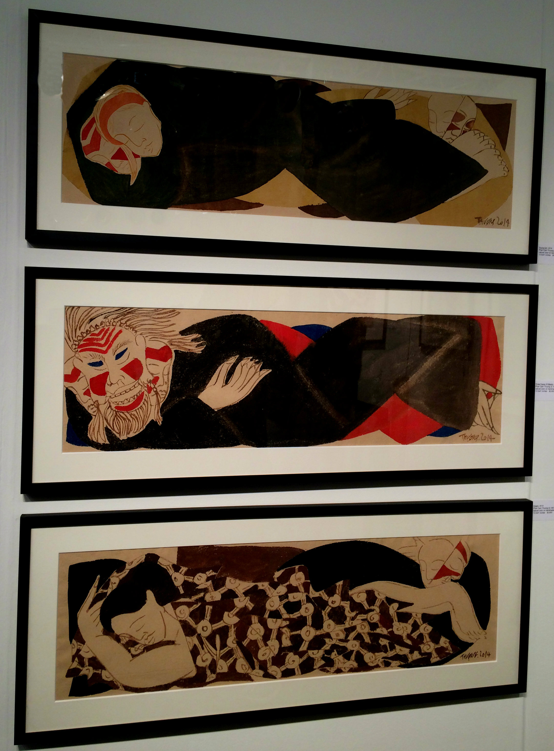 Young Girl, Three Faces of Masks, and Dream by Phan Cam Thuong