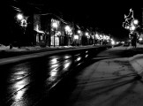 Small Town on Christmas Eve by Jon Beight