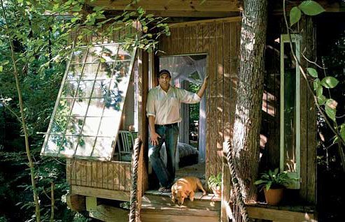 Peter Bahouth in his Treehouse