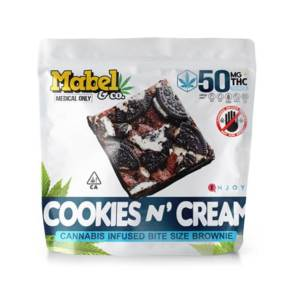 MABEL & CO 50MG MINI BROWNIE – COOKIES N CREAM