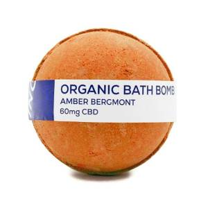 CBD LIVING TOPICAL AMBER BERGAMONT 60MG CBD INFUSED BATH BOMB
