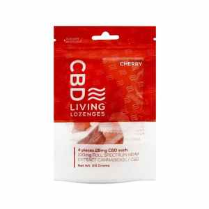 CBD LIVING 100MG CBD INFUSED CHERRY GUMMY RINGS