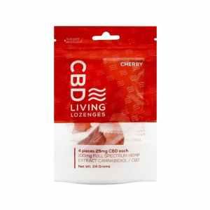 CBD LIVING 100MG CBD INFUSED CHERRY GUMMY RINGS