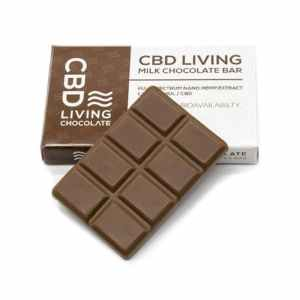EDIBLE CBD LIVING CBD Living Milk Chocolate Bar
