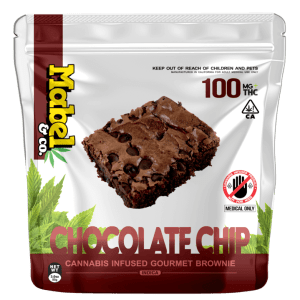 Mabel & Co – Chocolate Chip Brownie 100mg