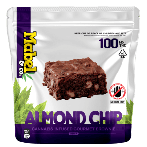 MABEL & CO 100MG – ALMOND CHIP BROWNIE