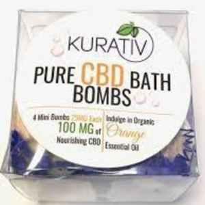 Kurativ CBD Bath Bomb, Wild Orange, 100MG