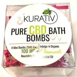 kurativ CBD Bath Bomb, Chamomile, 100MG