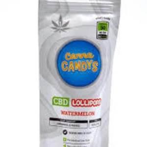 CANNA CANDY WATERMELON 50MG MEDICATED CBD LOLLIPOP