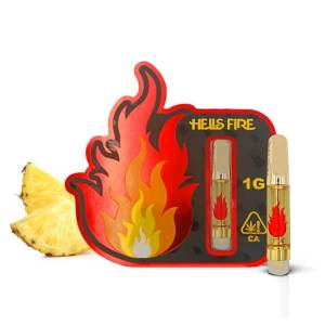 HELLS FIRE PINEAPPLE EXPRESS HYBRID 1 GRAM CANNABIS INFUSED CARTRIDGE