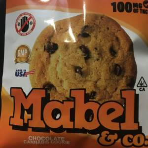 Marbel Double Chocolate Cannabis Cookie 100mg THC
