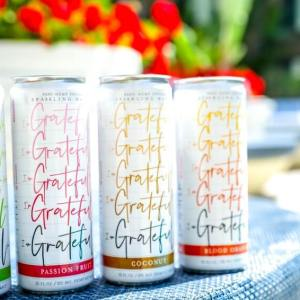 GRATEFUL HEMP INFUSED SPARKLING WATERS 12OZ CANS ZERO ARTIFICIAL FLAVORS ZERO TRACES OF THC