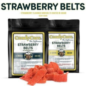 CANDY CARE 400MG INDICA FRUIT FLAVORED STRAWBERRY BELTS