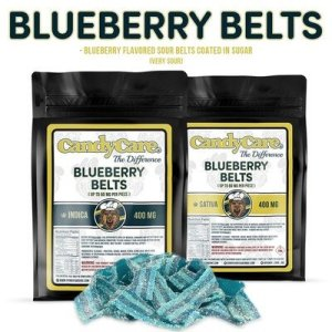 CANDY CARE 400MG INDICA BLUEBERRY BELTS