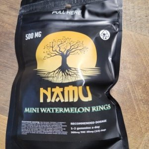 NAMU 500MG CANNABIS INFUSED MINI WATERMELON RINGS