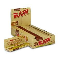 RAW ORGANIC HEMP 1 1/4 SIZE NATURAL UNREFINED ULTRA THIN 79MM ROLLING PAPERS