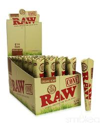 RAW ORGANIC 6-PACK 1 1/4 PRE-ROLLED CONES