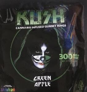 FRESH BAKED DISTRO KUSH GREEN APPLE 300MG CANNABIS INFUSED GUMMY RINGS