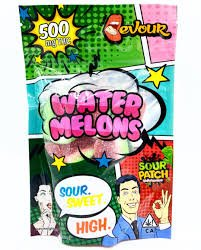 DEVOUR WATERMELONS 500MG CANNABIS INFUSED SOUR PATCH