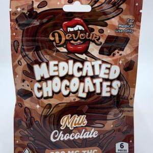 DEVOUR DOUBLE TOFFEE 600MG CANNABIS INFUSED MEDICATED DARK CHOCOLATES