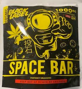 BLACK LABEL COSMIC 1,000 MG THC SPACE BAR BROWNIE CAUTION: VERY STRONG! NEW!