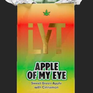 LYT APPLE OF MY EYE SWEET GREEN APPLE WITH CINNAMON 500MG THC 100% ORGANIC ALL NATURAL PREMIUM BELGIAN CHOCOLATE BAR