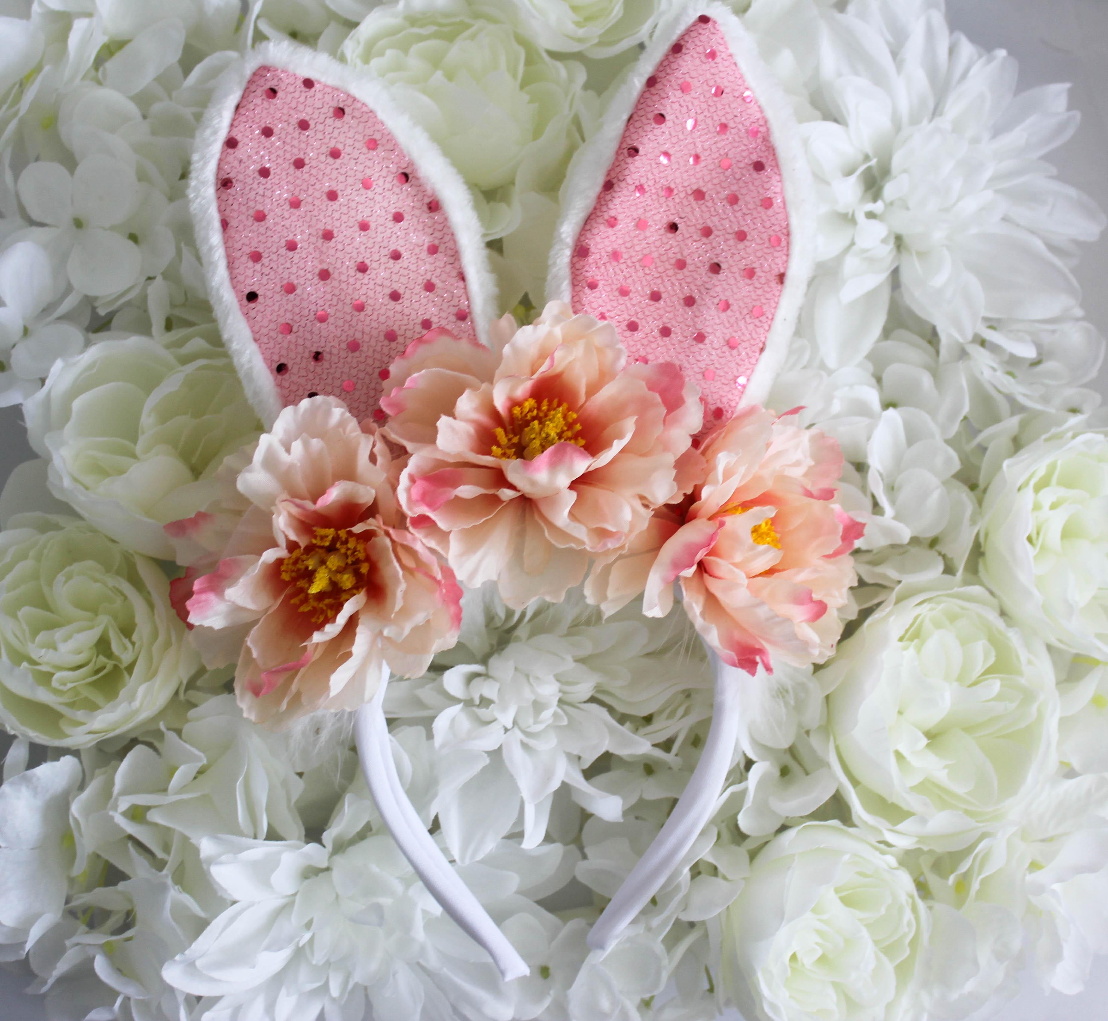 Diy Sequin Bunny Flower Crown Treehouse Threads