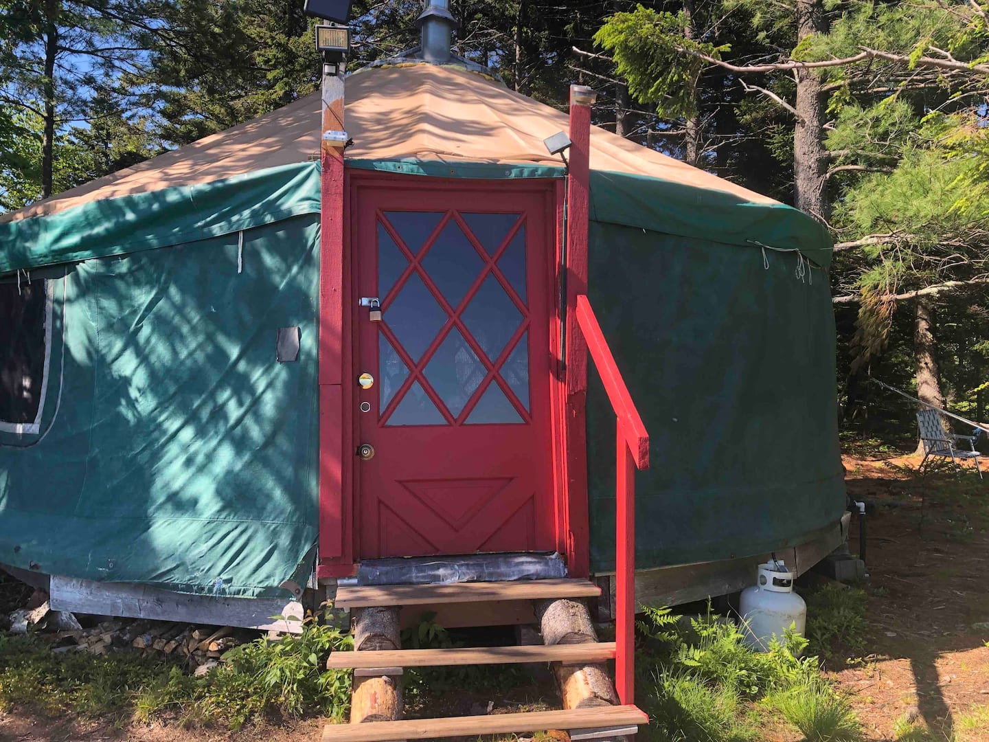 Treehouse Yurt in Maine